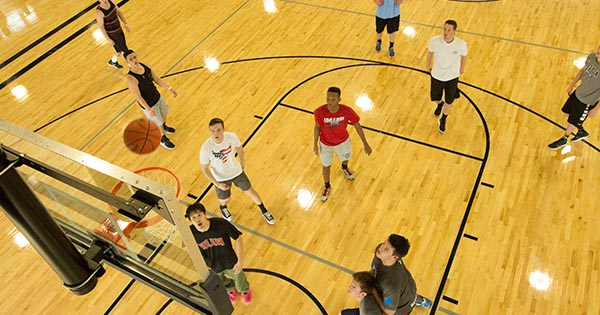 basketball at Wiegand